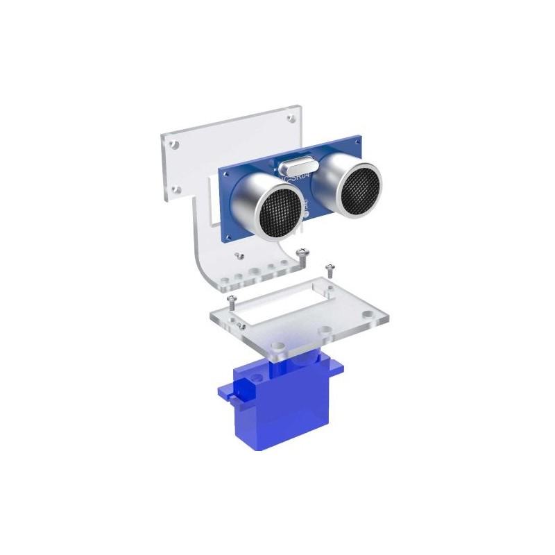 OKY0011-3 Sasiu din plexiglas pentru senzor ultrasonic HC-SR04 cu montare pe motor servo SG90 10107401