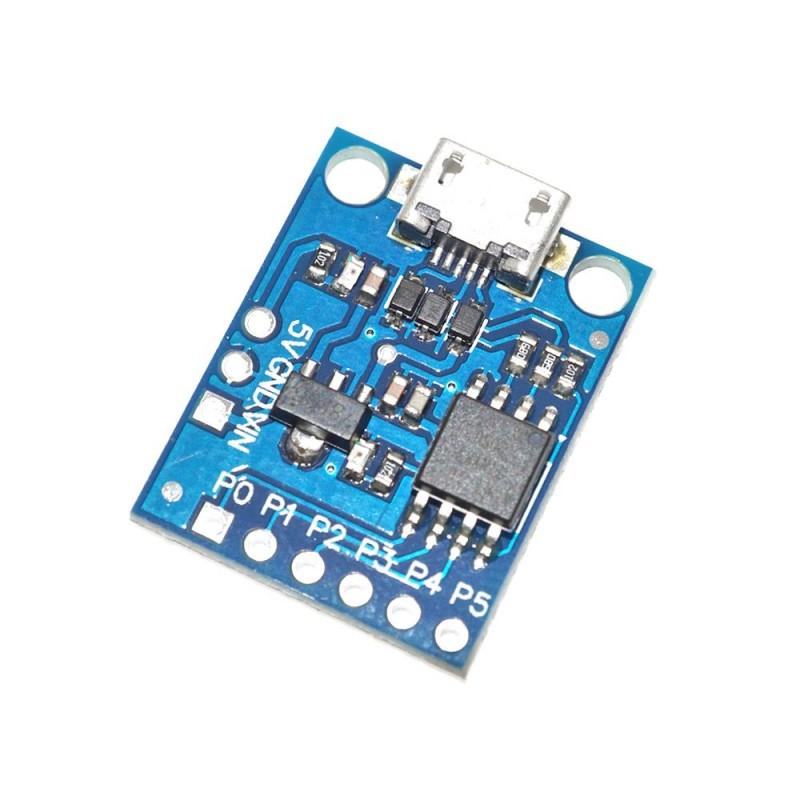 Placa de dezvoltare miniatura cu ATtiny85 si microUSB OKY2024-1