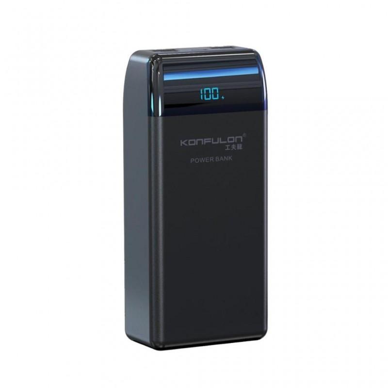 Acumulator extern 30000mAh QC 3.0 PD Konfulon P30Q negru