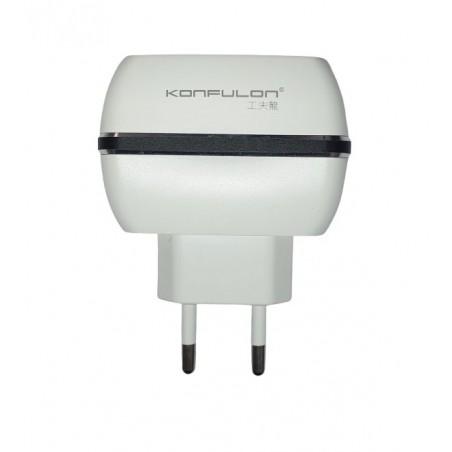 Incarcator la priza Konfulon C23A cu 3 iesiri USB 3.1A  negru