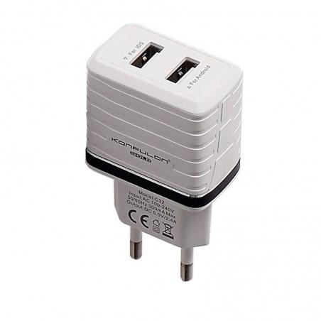 Incarcator la priza Konfulon C32 cu 2 iesiri USB pentru telefon 2.4A