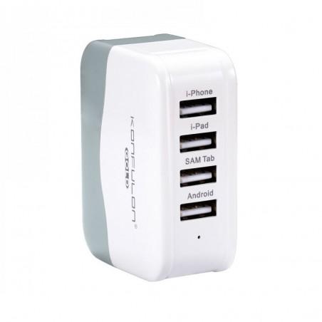 Incarcator la priza Konfulon C21 cu patru iesiri USB 4.2A pentru telefon si tablete