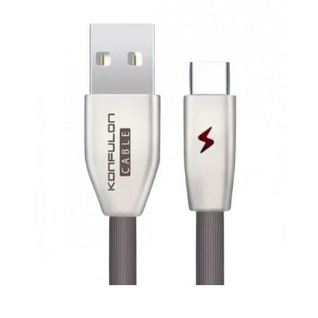 Cablu incarcare telefon USB Tip C 3.0A 1m Konfulon S58 negru