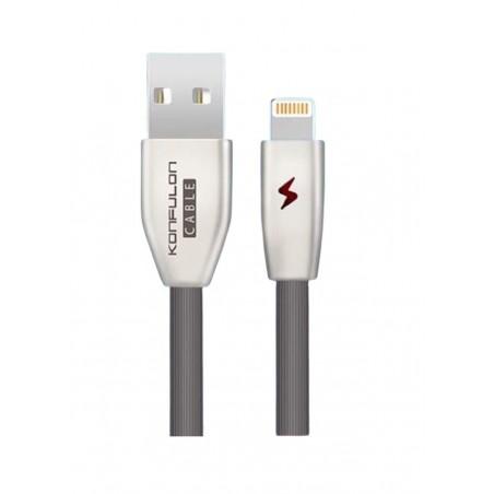 Cablu incarcare telefon USB Lightning 3.0A 1m Konfulon S54 negru