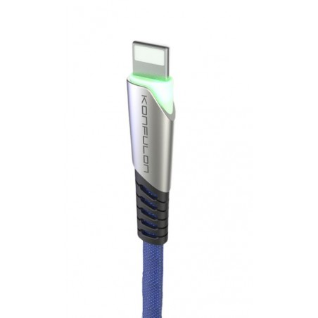 Cablu incarcare telefon USB Lightning 2.4A Konfulon DC17 albastru