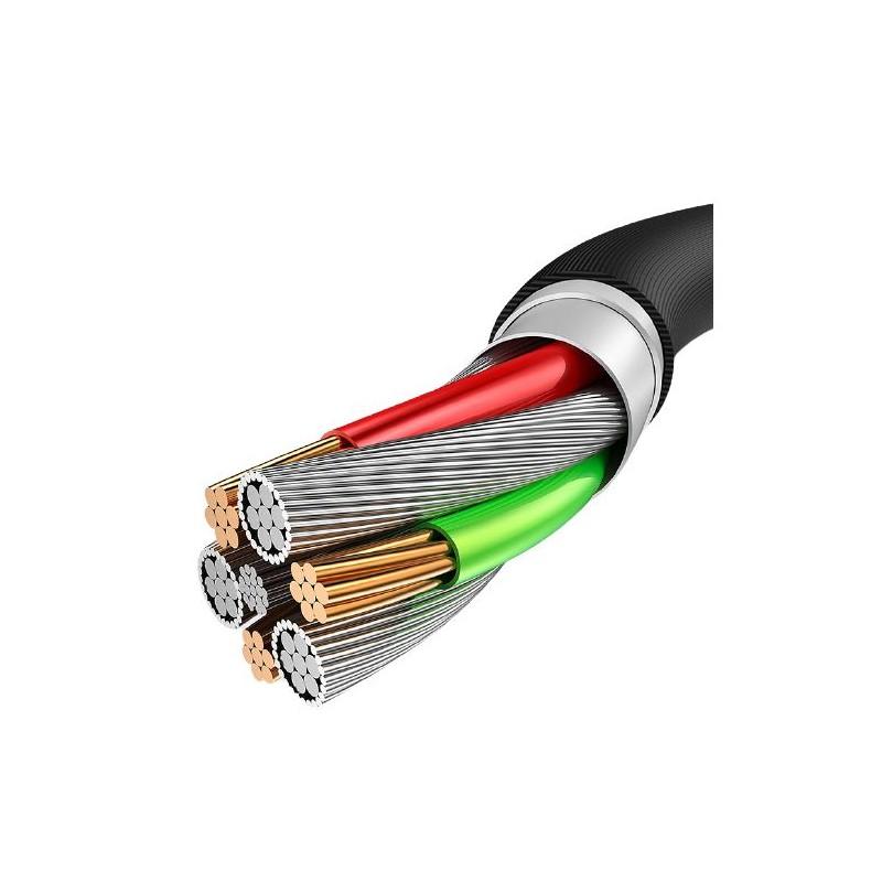 Cablu incarcare telefon USB Lightning 2A Konfulon DC10I alb
