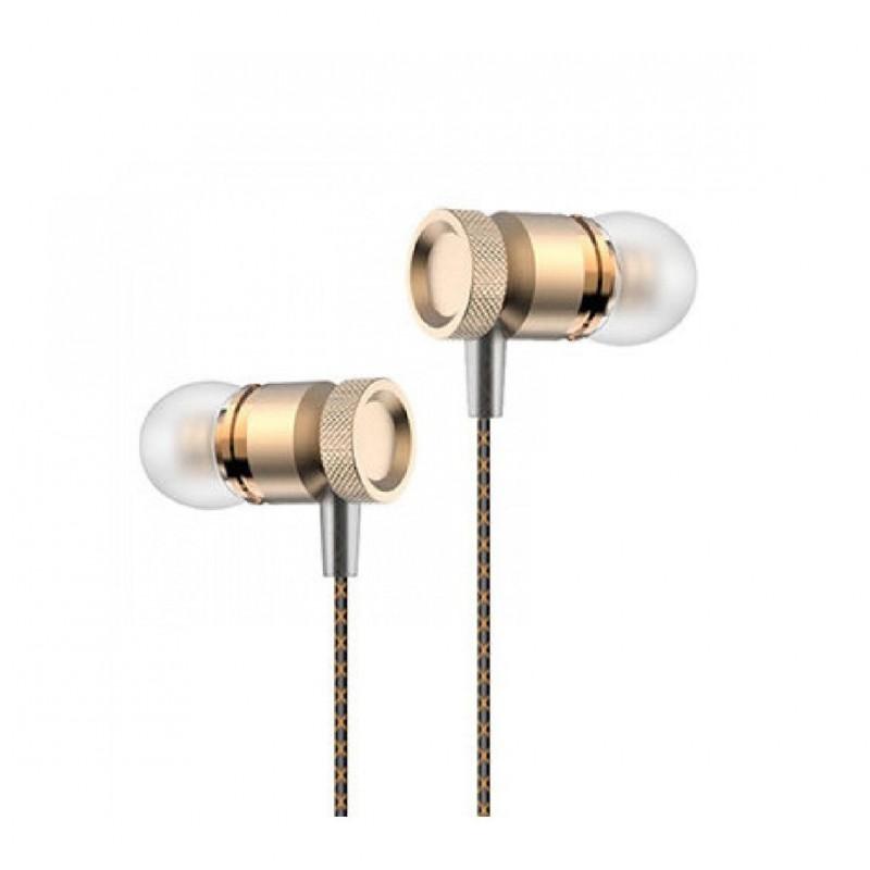 Casti audio cu fir pentru telefon Konfulon INA8 auriu