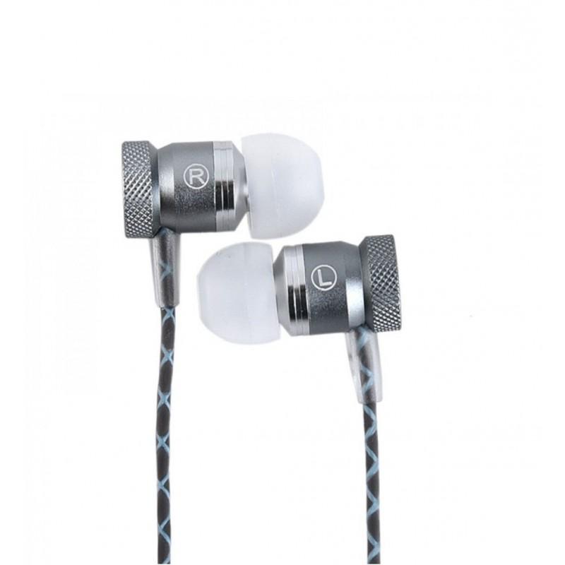Casti audio cu fir pentru telefon Konfulon INA8 gri