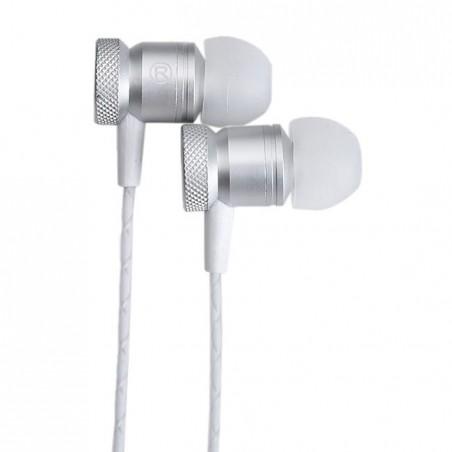 Casti audio cu fir pentru telefon Konfulon INA8 argintiu