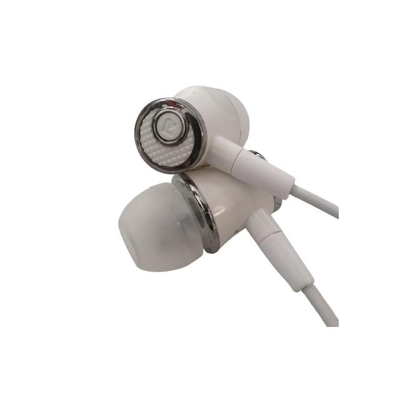 Casti audio cu fir pentru telefon Konfulon IN10 gri