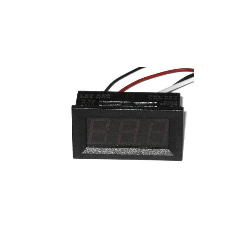 C27D - Ampermetru digital de panou, DC 0 to 9.99A, afisaj rosu