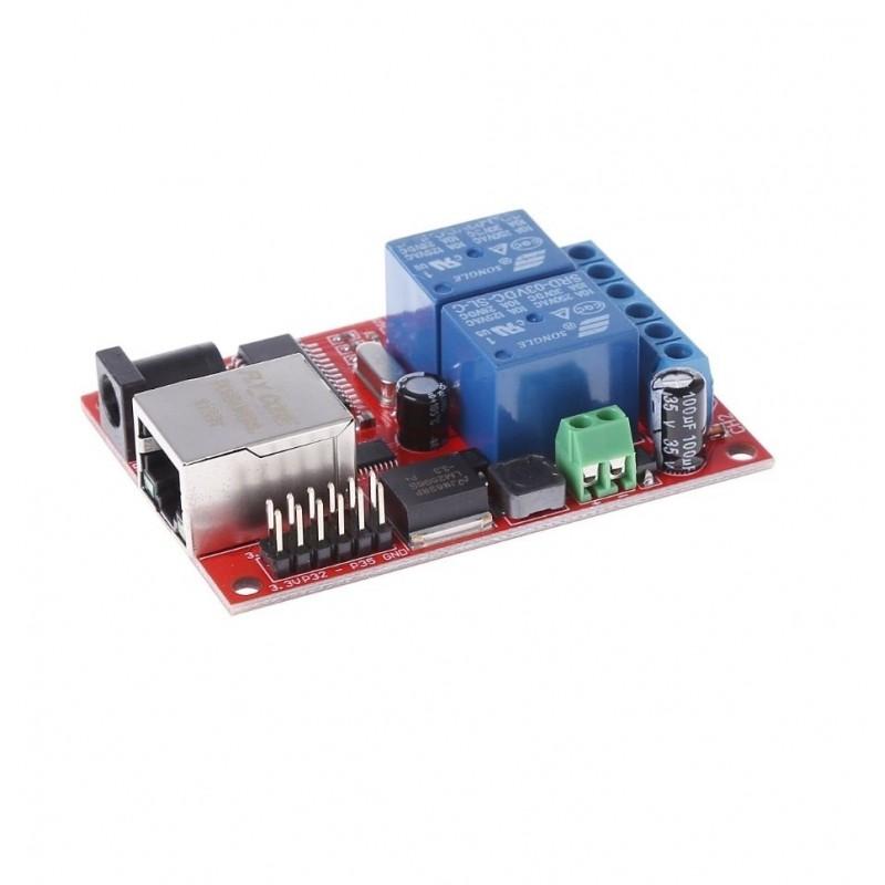 Modul cu 2 relee controlat prin LAN Ethernet/TCP OKN-GM215 V
