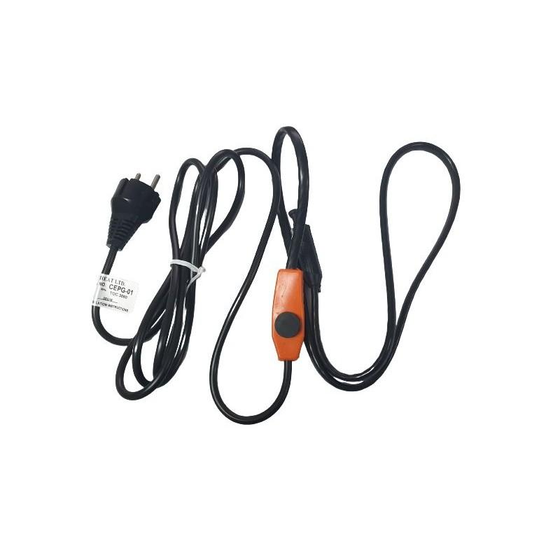 Cablu incalzitor EasyHeat pentru conducte si tevi 2 m termostat