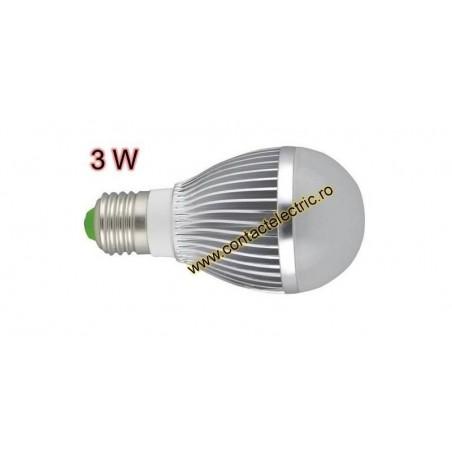 Bec E27 LED 3W cu radiator